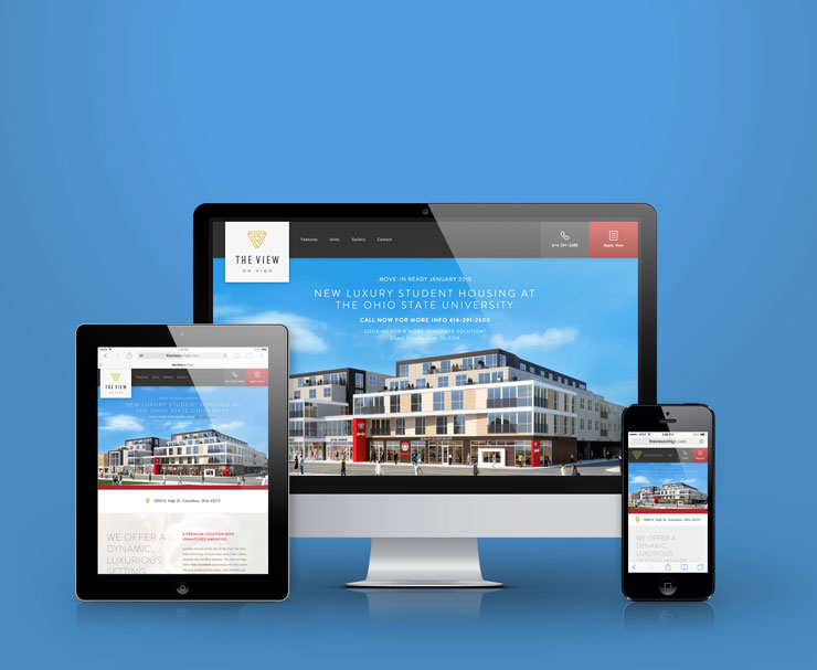 image of the View on High website on multiple devices